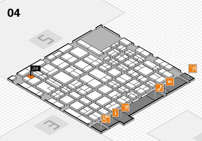 MEDICA 2016 hall map (Hall 4): stand J58