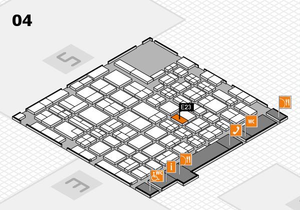 MEDICA 2016 hall map (Hall 4): stand E23