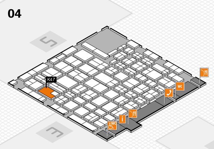 MEDICA 2016 hall map (Hall 4): stand K47
