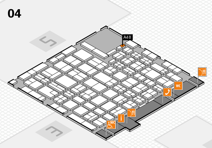 MEDICA 2016 hall map (Hall 4): stand A48
