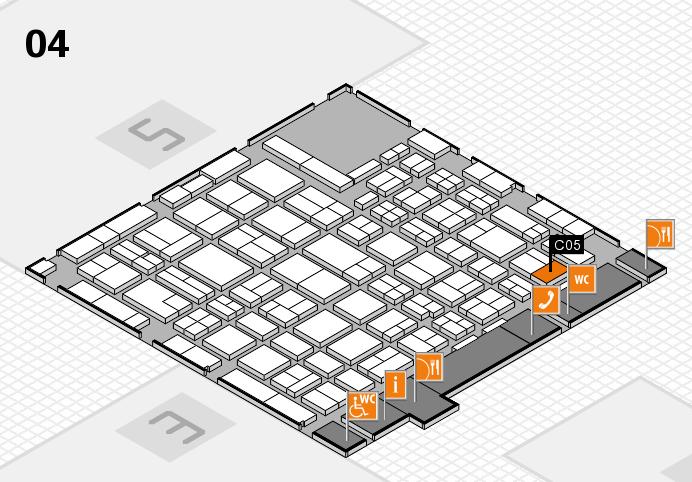 MEDICA 2016 hall map (Hall 4): stand C05