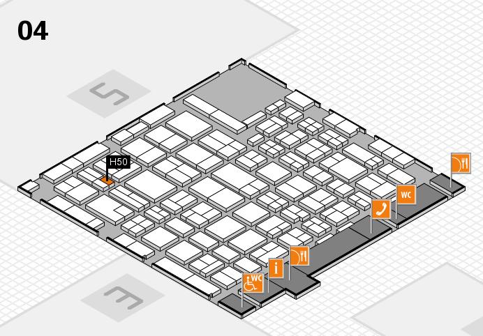 MEDICA 2016 hall map (Hall 4): stand H50