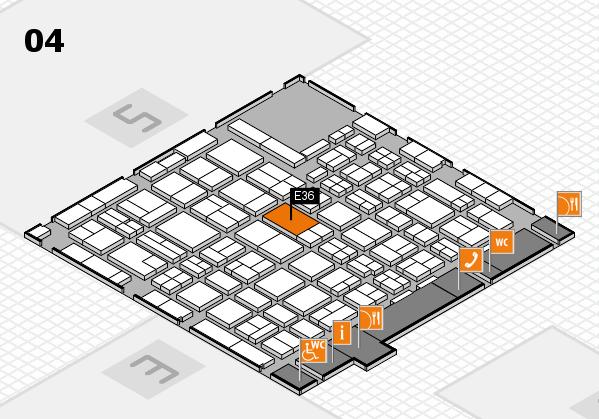 MEDICA 2016 hall map (Hall 4): stand E36