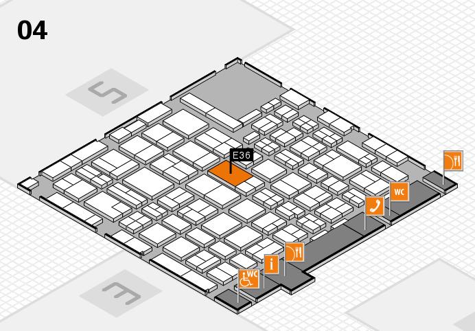 MEDICA 2016 Hallenplan (Halle 4): Stand E36