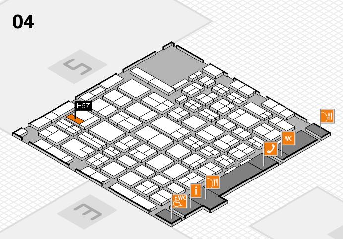 MEDICA 2016 hall map (Hall 4): stand H57