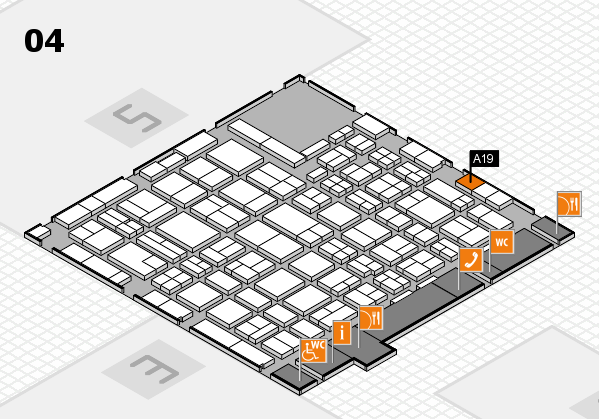 MEDICA 2016 hall map (Hall 4): stand A19