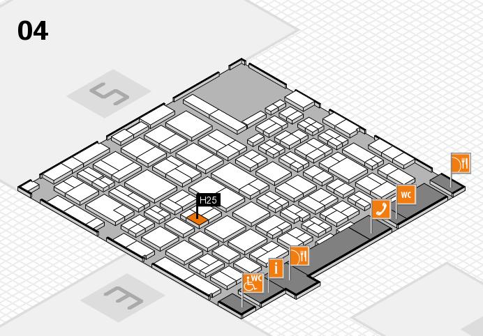 MEDICA 2016 hall map (Hall 4): stand H25