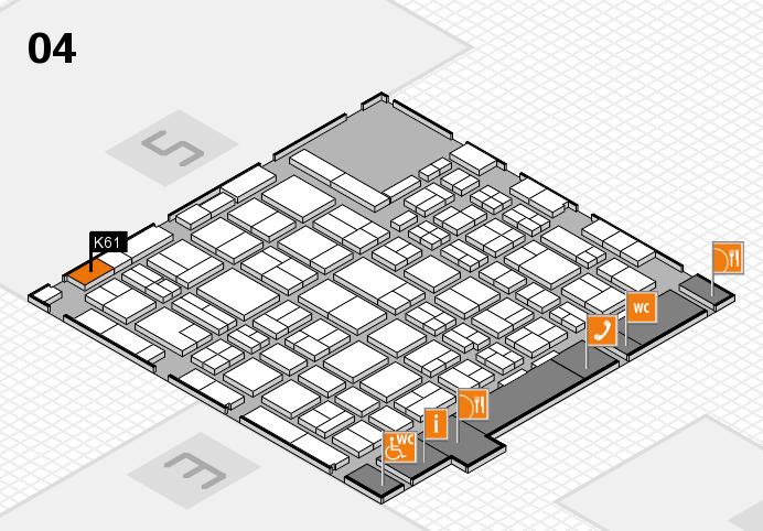 MEDICA 2016 hall map (Hall 4): stand K61