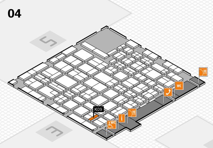 MEDICA 2016 hall map (Hall 4): stand K09