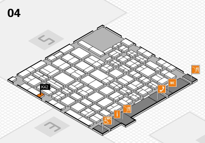 MEDICA 2016 hall map (Hall 4): stand K42