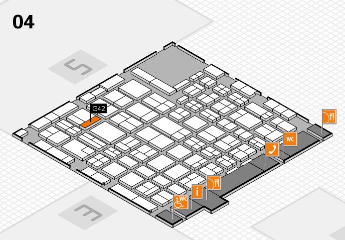 MEDICA 2016 hall map (Hall 4): stand G42