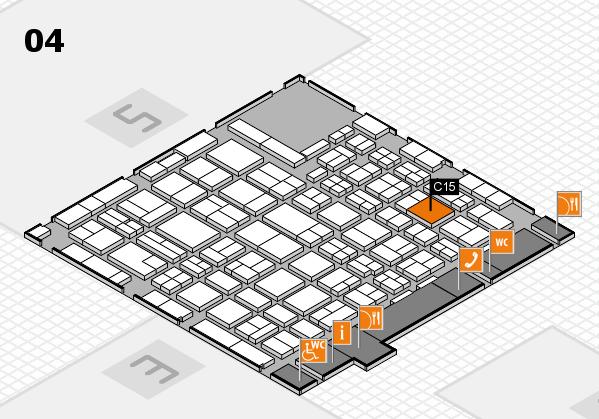 MEDICA 2016 hall map (Hall 4): stand C15