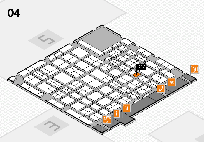 MEDICA 2016 hall map (Hall 4): stand D17