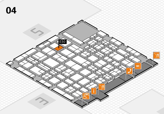 MEDICA 2016 hall map (Hall 4): stand E50