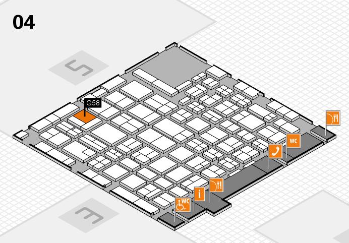 MEDICA 2016 hall map (Hall 4): stand G58