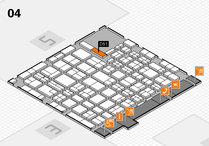 MEDICA 2016 hall map (Hall 4): stand D51