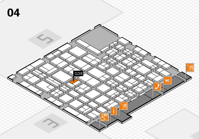 MEDICA 2016 hall map (Hall 4): stand G38