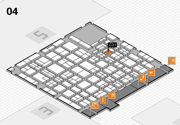 MEDICA 2016 hall map (Hall 4): stand C31