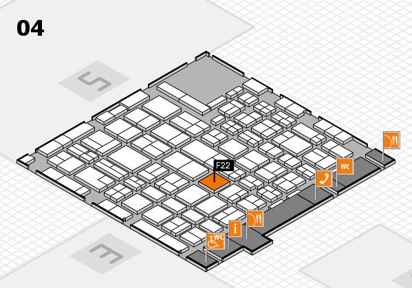 MEDICA 2016 hall map (Hall 4): stand F22