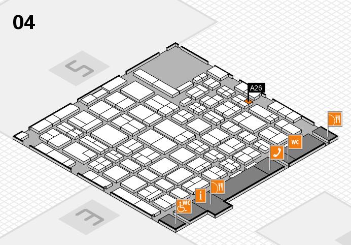 MEDICA 2016 hall map (Hall 4): stand A26