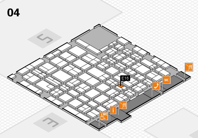 MEDICA 2016 hall map (Hall 4): stand E16