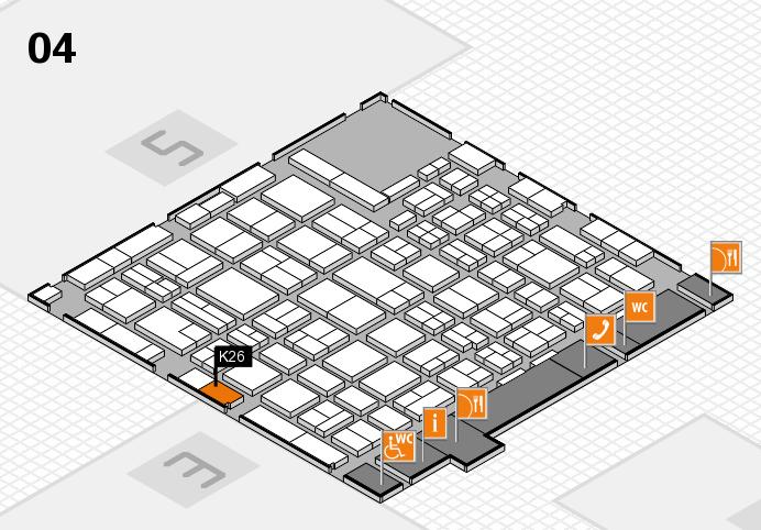 MEDICA 2016 hall map (Hall 4): stand K26