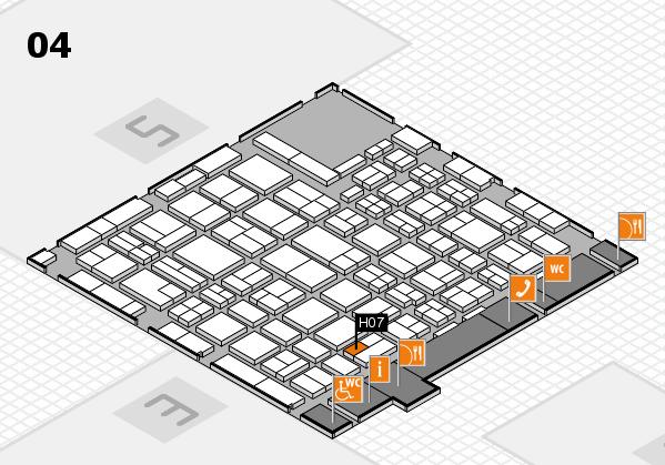 MEDICA 2016 hall map (Hall 4): stand H07
