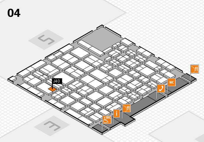 MEDICA 2016 hall map (Hall 4): stand J40