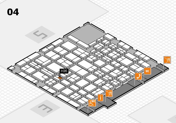 MEDICA 2016 hall map (Hall 4): stand H36