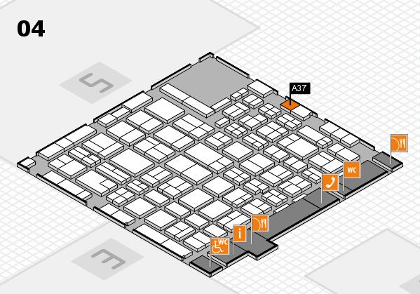 MEDICA 2016 hall map (Hall 4): stand A37