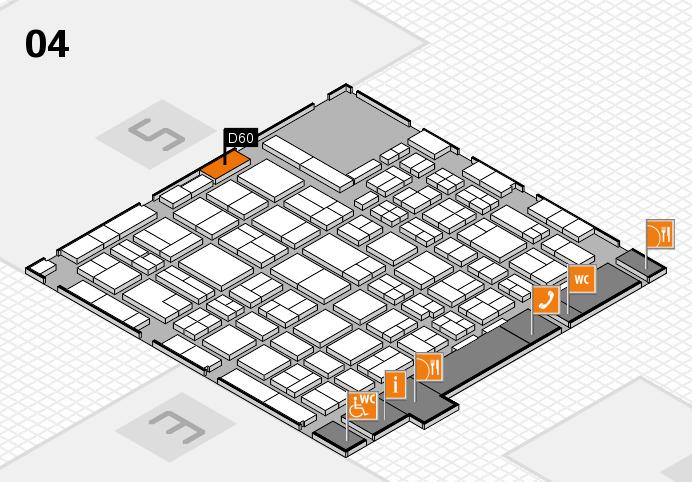 MEDICA 2016 hall map (Hall 4): stand D60