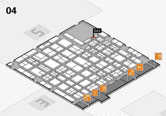 MEDICA 2016 hall map (Hall 4): stand B49