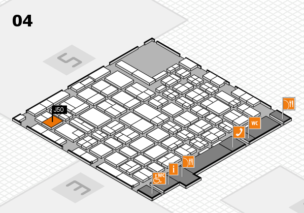 MEDICA 2016 hall map (Hall 4): stand J50