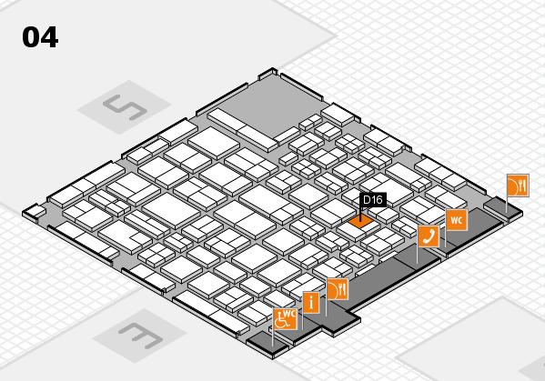 MEDICA 2016 hall map (Hall 4): stand D16