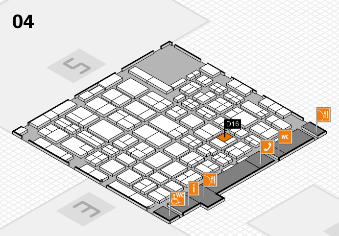 MEDICA 2016 hall map (Hall 4): stand D16
