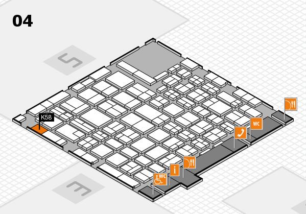 MEDICA 2016 hall map (Hall 4): stand K58