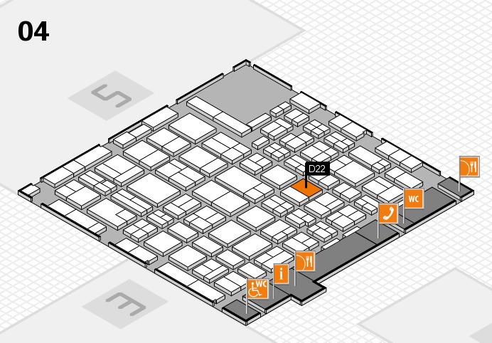MEDICA 2016 hall map (Hall 4): stand D22