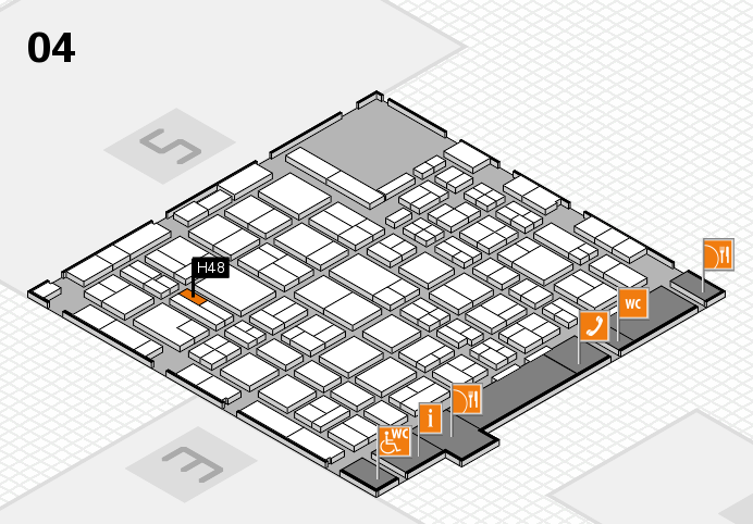 MEDICA 2016 hall map (Hall 4): stand H48