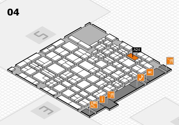 MEDICA 2016 hall map (Hall 4): stand A24