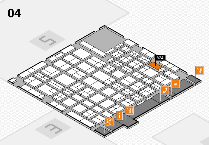 MEDICA 2016 hall map (Hall 4): stand A24