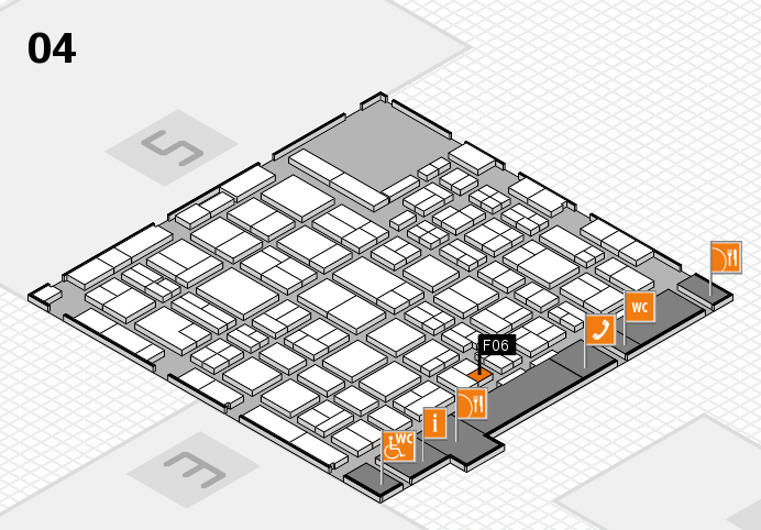 MEDICA 2016 hall map (Hall 4): stand F06