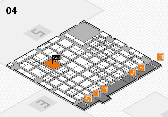 MEDICA 2016 hall map (Hall 4): stand G40