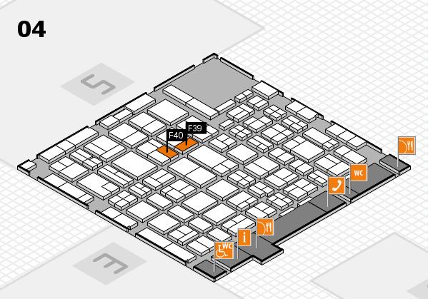 MEDICA 2016 hall map (Hall 4): stand F39, stand F40