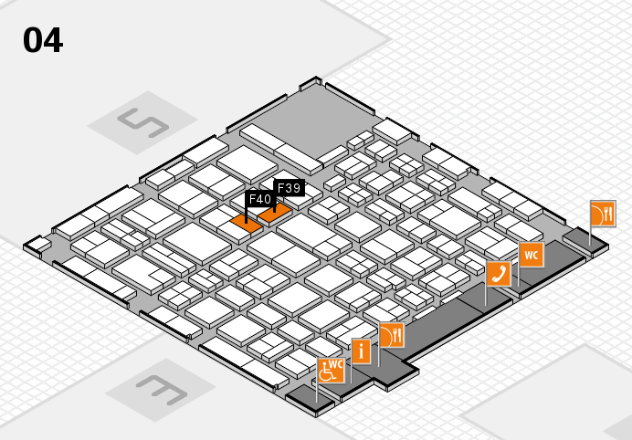 MEDICA 2016 hall map (Hall 4): stand F39, stand F40