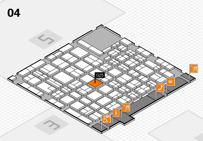 MEDICA 2016 hall map (Hall 4): stand G25