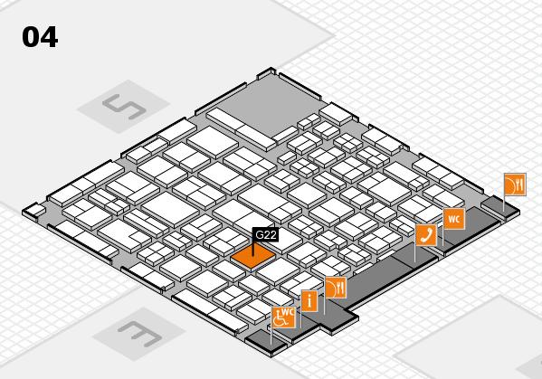 MEDICA 2016 hall map (Hall 4): stand G22