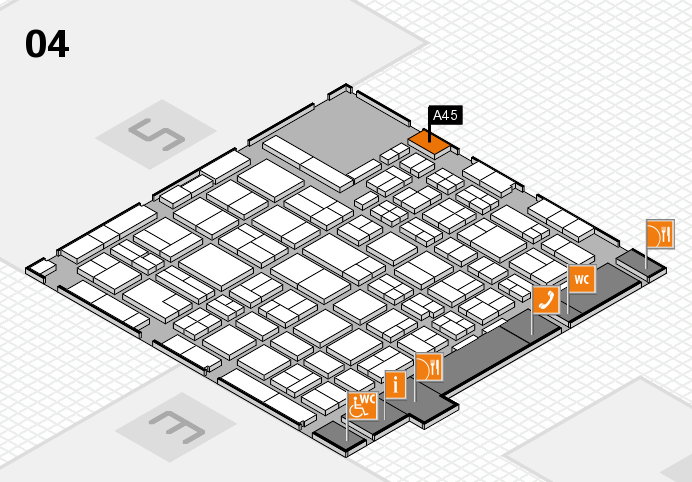MEDICA 2016 hall map (Hall 4): stand A45