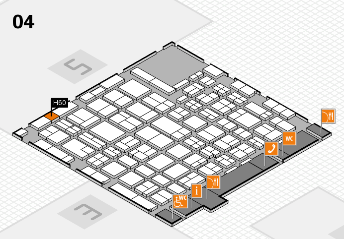 MEDICA 2016 hall map (Hall 4): stand H60