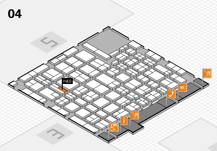 MEDICA 2016 hall map (Hall 4): stand H40