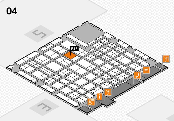 MEDICA 2016 hall map (Hall 4): stand E48